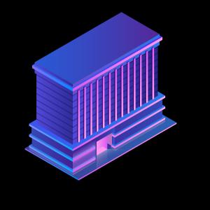 3d立体风格建筑物