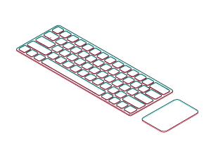 透明键盘PSD源文件