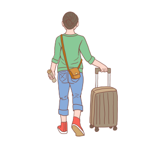 旅行人物手绘卡通小清新