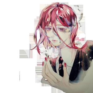手绘原创悲伤哭泣的少年