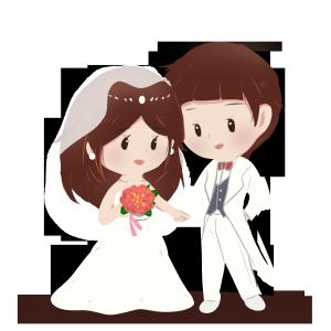 西式婚礼浪漫白色婚纱礼服结婚季新郎新娘新婚牵手