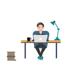 工作环境男生台灯电脑咖啡办公桌