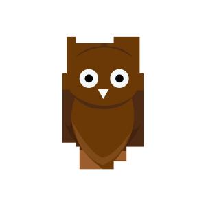 UI创意猫头鹰图形