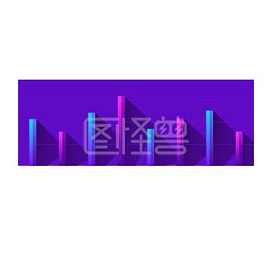立体条形创意矢量数据分析PPT商务