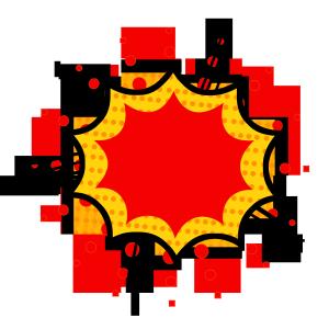 红色底红边框波普风边框