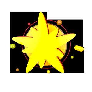 立体黄色喜庆背景板电商C4D装饰元素