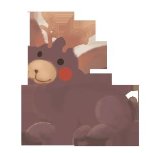 手绘卡通圣诞节小鹿麋鹿动物