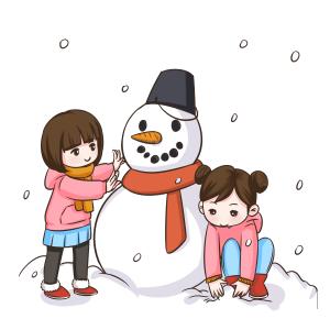 卡通手绘雪人系列
