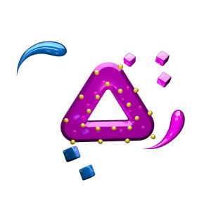 淘宝天猫C4D立体几何装饰背景