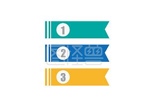 PPT分类条例旗帜标题栏边框