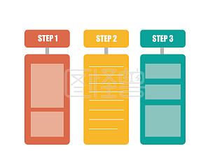 PPT简约清晰步骤分类条例