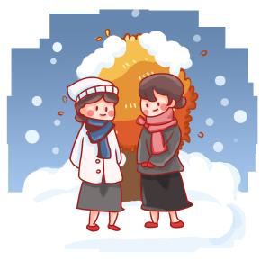 白雪冬天冬季冬天服装
