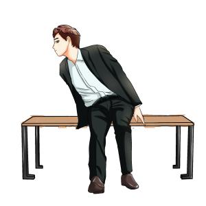 板凳男士卡通可爱手绘坐着可爱手绘
