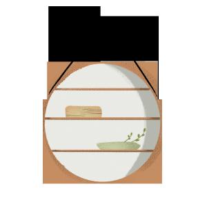 手绘卡通植物装饰摆件