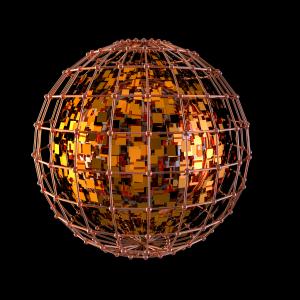 创意金属爆炸小球PNG下载