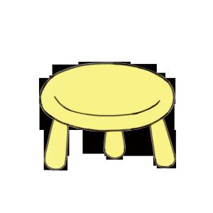 室内居家环境设计家具儿童用品黄色小板凳