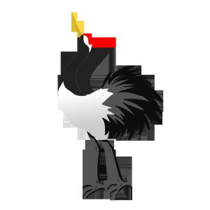 手绘卡通可爱动物白鹤