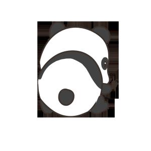 手绘保护动物熊猫
