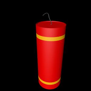 红色喜庆爆竹矢量图