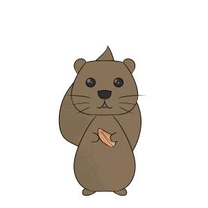 可爱小动物松鼠摆件