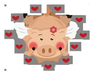 2019年猪年可爱的圆球猪png免费下载