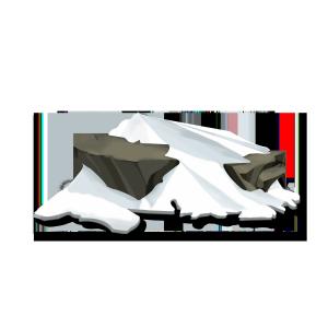 手绘石块白雪冬天