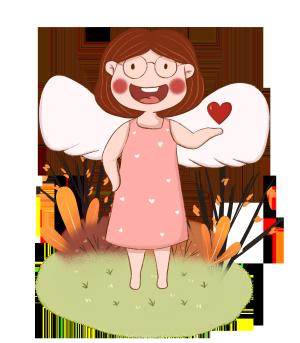 手绘小清新可爱的天使下载