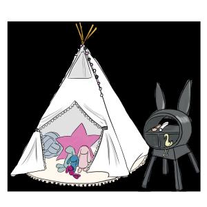 ins风帐篷儿童场景