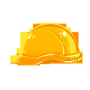 安全第一黄色安全帽