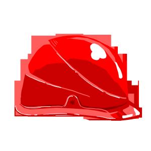 红色精致安全帽施工