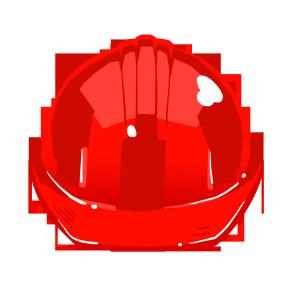 红色的安全帽插图