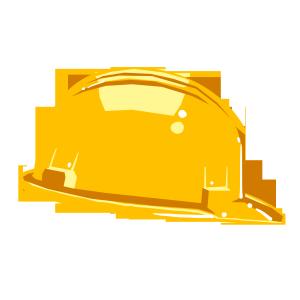 黄色的消防安全帽