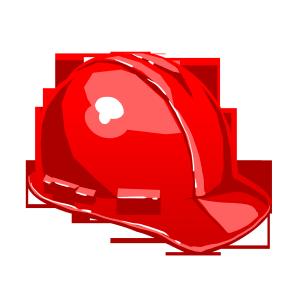 红色的安全帽精致