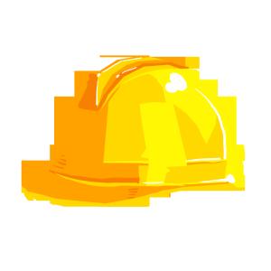 黄色安全帽消防工作