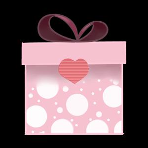 粉色桃心礼盒蝴蝶结
