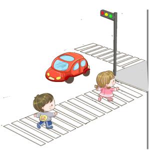 交通安全过人行道