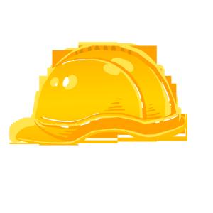 手绘安全小物安全帽