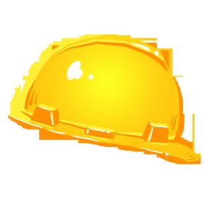 手绘消防小物安全帽