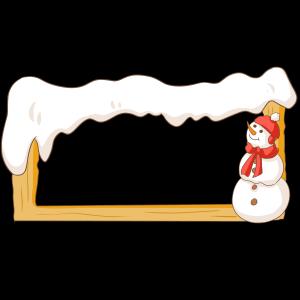 简约白色圣诞边框