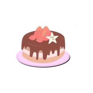 矢量手绘生日蛋糕