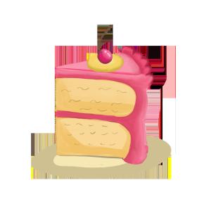 手绘卡通生日蛋糕