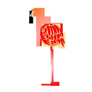 粉色ins风火烈鸟