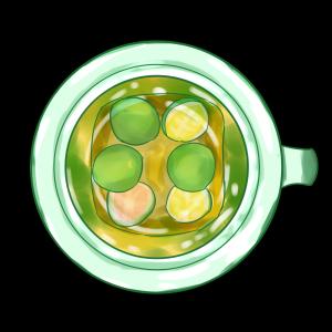 养生美味金桔茶饮茶喝茶茶歇茶杯半透明免抠png