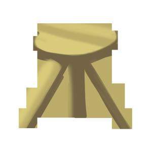 矢量图水彩小凳子