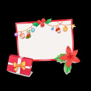 手绘空白圣诞节板子