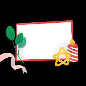 手绘圣诞节空白板子