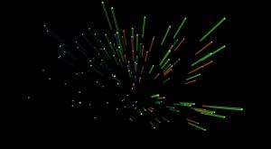 3D星体坠落矢量图