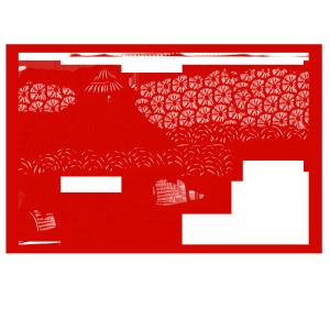 手绘中国风猪年世界名胜古迹风景区李白故里
