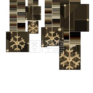 C4D圣诞节金色雪花装饰