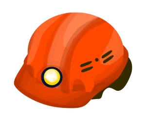 建筑工地红色安全帽